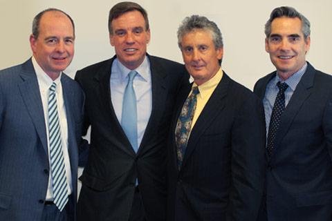 Bob Burke, MassMutual, Senator Warner, Fred McNair, David Stertzer, AALU CEO.